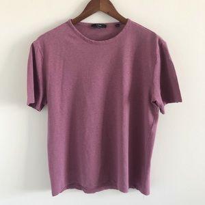 Men's Vince Crew Neck Linen Blend T-Shirt Small